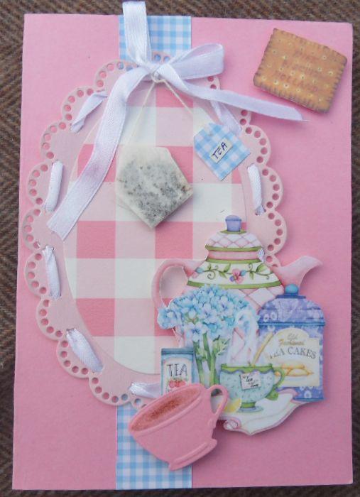 scrapbook card tea  with  bag