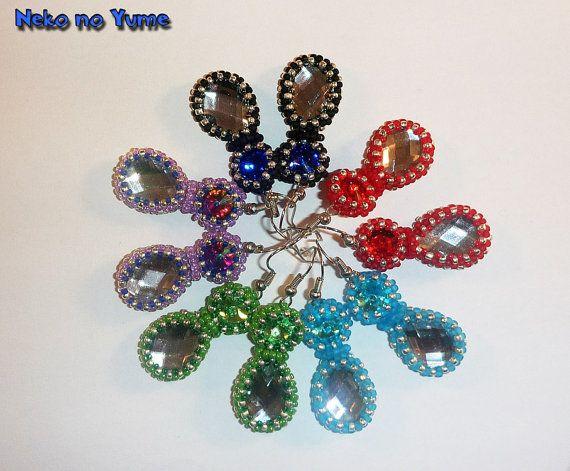 Beads embroidery earrings   Starlight Shine by IzabelaCichocka