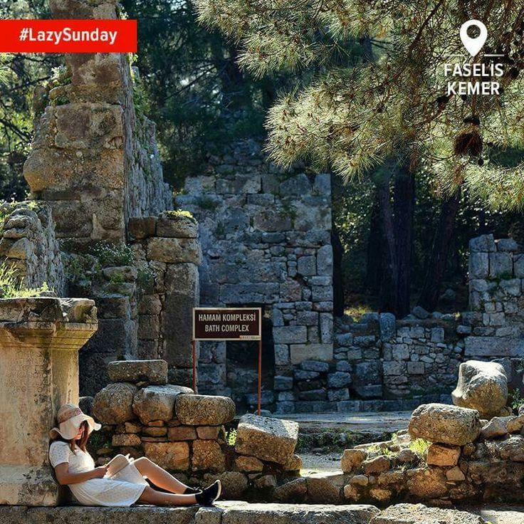 faselis, eine antike stadt in der nähe von kemer, antalya, türkei
