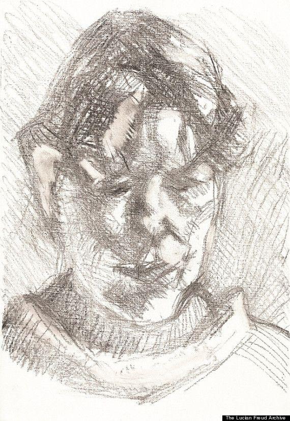 lucian freud's unseen drawings