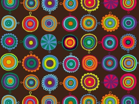 Tessuto stampato in cotone LAPPULIISA by Marimekko | design Maija Louekari