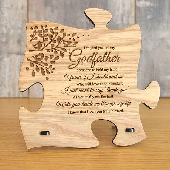 Unique God Father Gift Wooden Jigsaw Puzzle Piece Godfather Etsy Godfather Gifts God Parents Gifts For Father