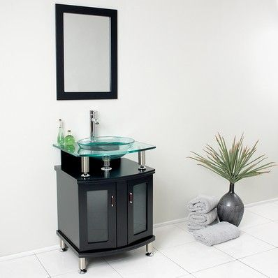 "Contento 24"" Modern Single Bathroom Vanity in Espresso by Fresca 