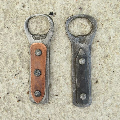 Forged Bottle Openers - maybe leather accent on handle