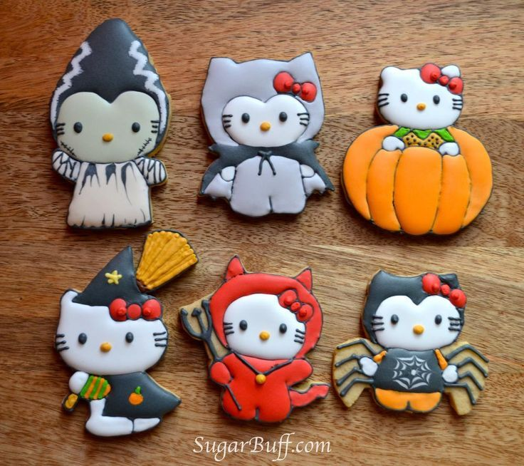 16 Hello Kitty Cookies For Halloween – Top Easy Design For Party Decor Project - Easy Idea (17)