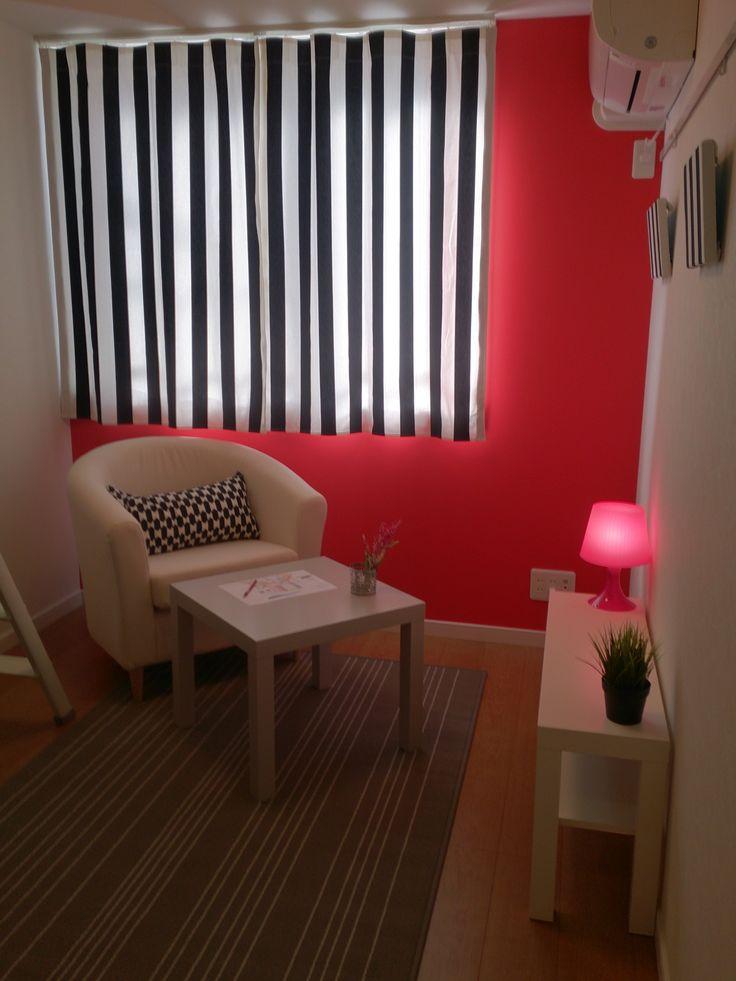 家具、小物:IKEA カーテン:IKEA布をDIY レースカーテン:サンゲツ