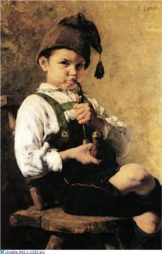 The Smoker - Georgios Jakobides, 1886