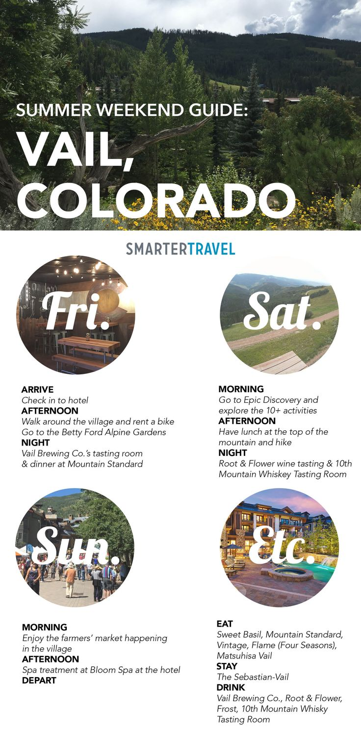 Weekend Guide to Vail, CO in Summer