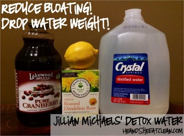 Looking to drop that extra water weight and reduce bloating for a special event?  You don't need to do anything unhealthy!  Try Jillian Michaels' detox water - It's a natural diuretic drink! #detox #cleanse #bloating #jillianmichaels #eatclean by brookeO