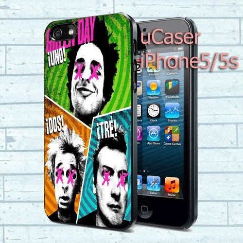 """Green Day For iPhone 5 4.0"""" screen Black Case"""
