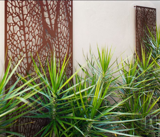Vuelta Laser Cut Screen | outdoor design | www.watergardenwarehouse.com.au | © Q Design