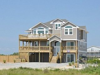 Corova OBX, NC  Magnificent Semi-Oceanfront 8 Bedroom Beach House with Unobstructed Ocean Views
