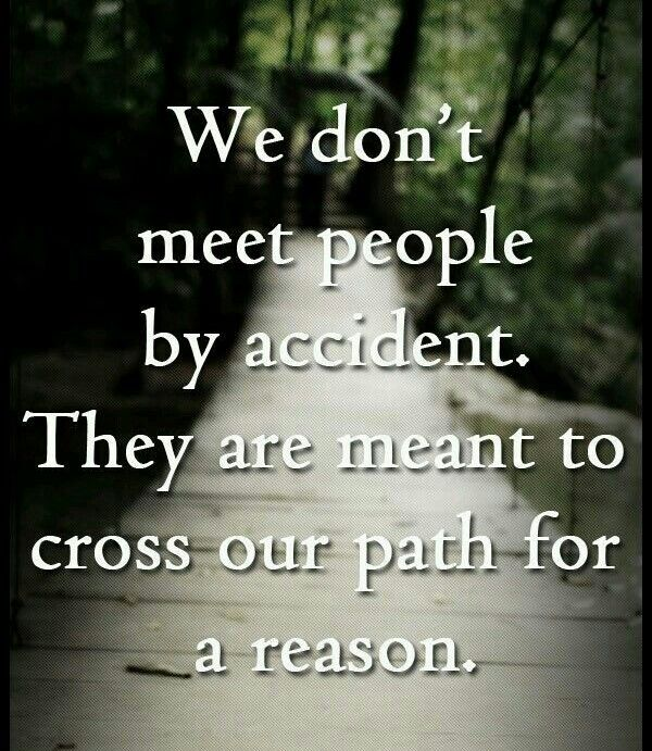 You Meet Someone For A Reason Quotes: We Don't Meet People By Accident. They Are Meant To Cross