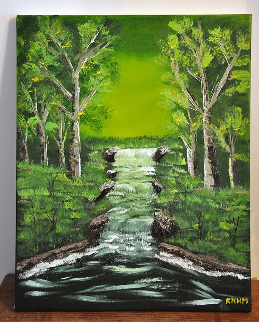 My very first oil painting (Bob Ross style). | Paintings I ...