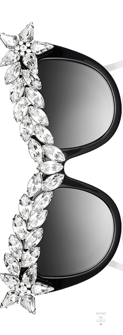 Anna-Karin Karlsson Decadence Crystal-Brow Sunglasses, Black