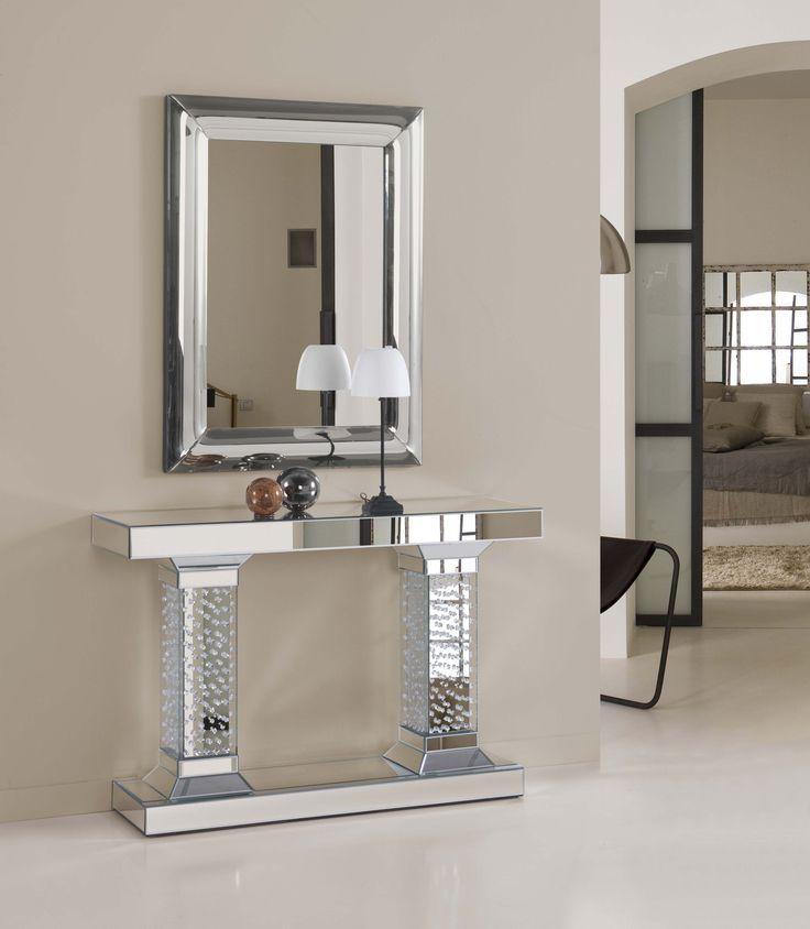 Consolas consolas de cristal for Espejos decorativos para entradas