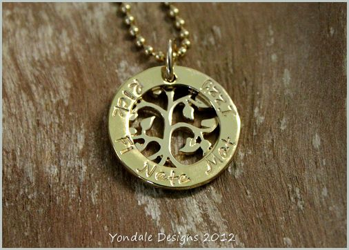 : YONDALE DESIGNS Personalised Hand Stamped Silver Jewellery & Giftware :