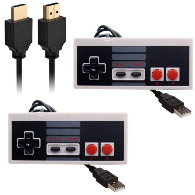 EEEKit 2Pcs Raspberry Pi Classic USB Nintendo NES Controller Gamepad+HDMI Cable