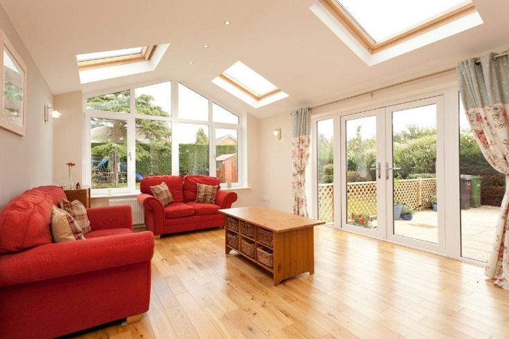 Single storey extension with Velux windows