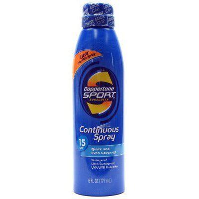 Coppertone Continuous Spray Sport SPF #15 6 oz. Waterproof by Coppertone. $12.69