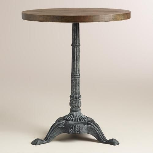 One of my favorite discoveries at WorldMarket.com: Metal and Wood French Bistro Accent Table