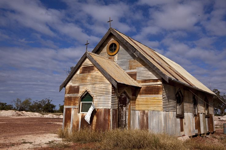 old tin church ♥ outback Australia