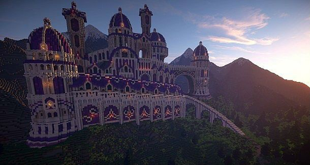 The Fantastical Purple Palace Minecraft World Save