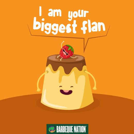 What did the flan say to the guest?  #foodies #funnyquotes #foodquotes #foodforthought #foodforthesoul #mondaymotivation