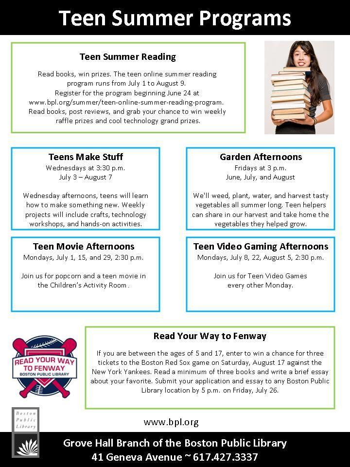 Youth and Teen Programs at the Farmington Public Library