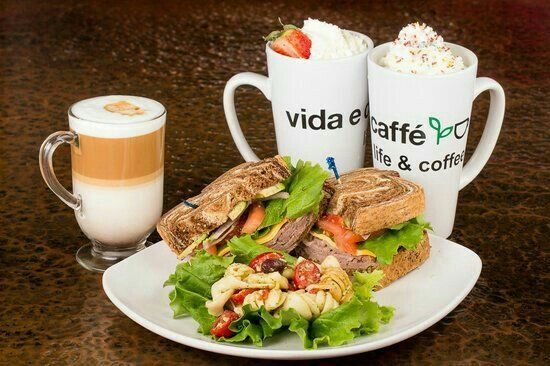 Vida e Caffé not only offers great coffee,have a look at their menu for mouth watering treats.