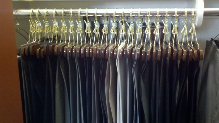 How to use Kirby Allison Clamping Hangers in the closet.