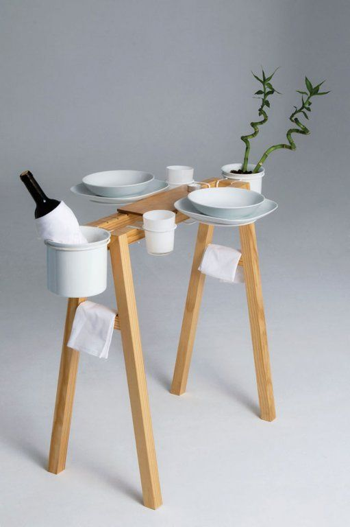 deconstructed dining table by Daniel Gantes