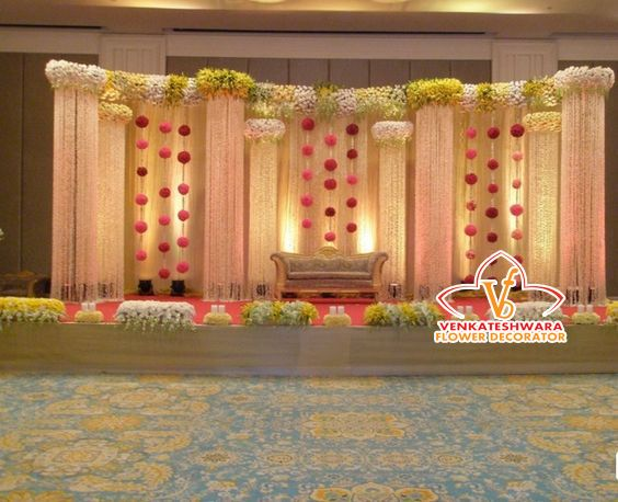 93821 12555, 9600171747 Venkateswara Flower Decorators Venkateswara Flower Decoration Wedding Stage Decorators In South India, Wedding Cards,Catering,Candid Photography, Candid Videographers, Brides Makeup Photo by Venkateswara Flower Decors - Wedding Stage Decorators
