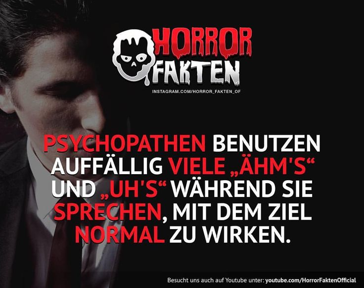 ❝Markiere einen Freund der zu viele Ähm´s benutzt❞ #horrorfakten