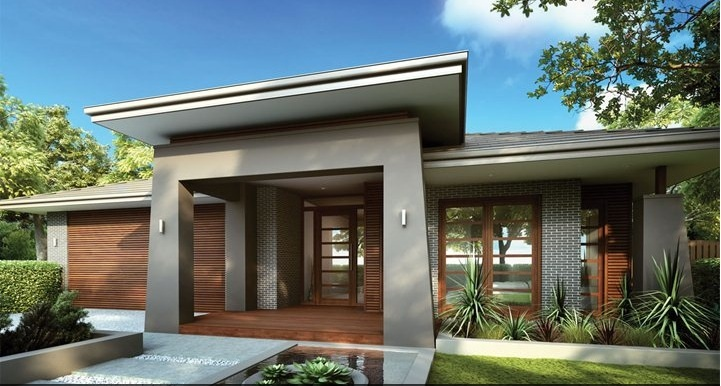 Modern single storey house designs images for One story modern house plans