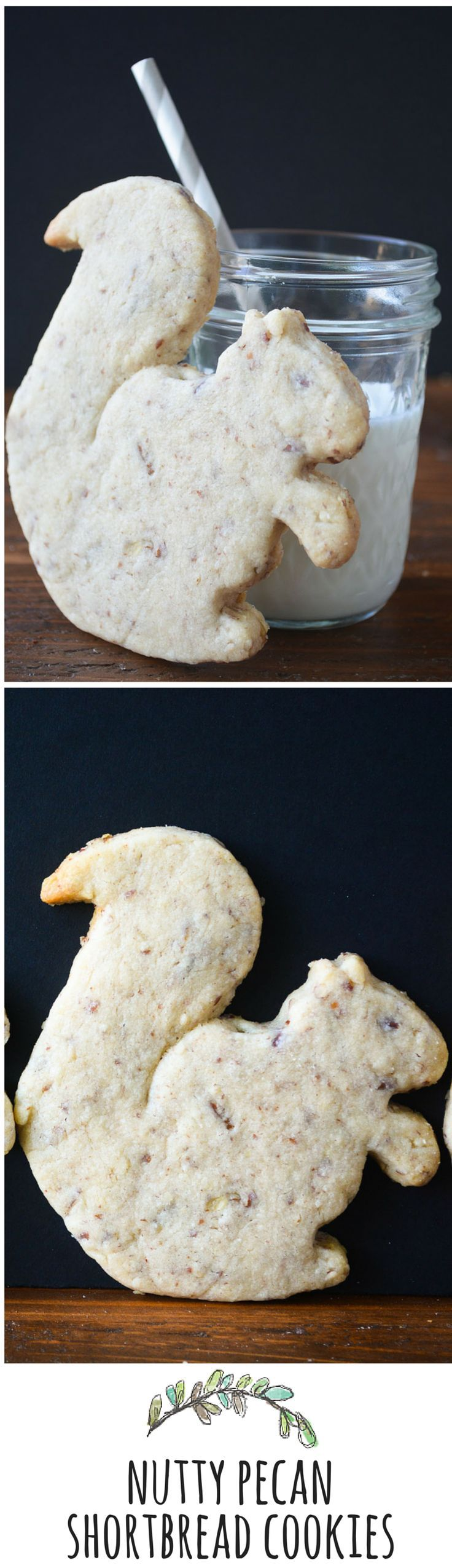 Buttery shortbread cookies loaded with crunchy pecans.