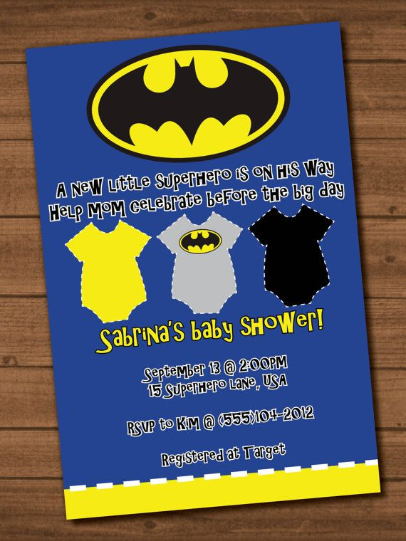 Boy's Batman Baby Shower Invite file by STandSDesigns on Etsy