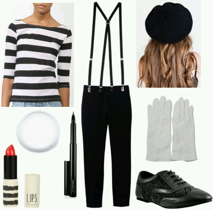 French Mime Costume Diy: 406 Best Goodwill Halloween Images On Pinterest