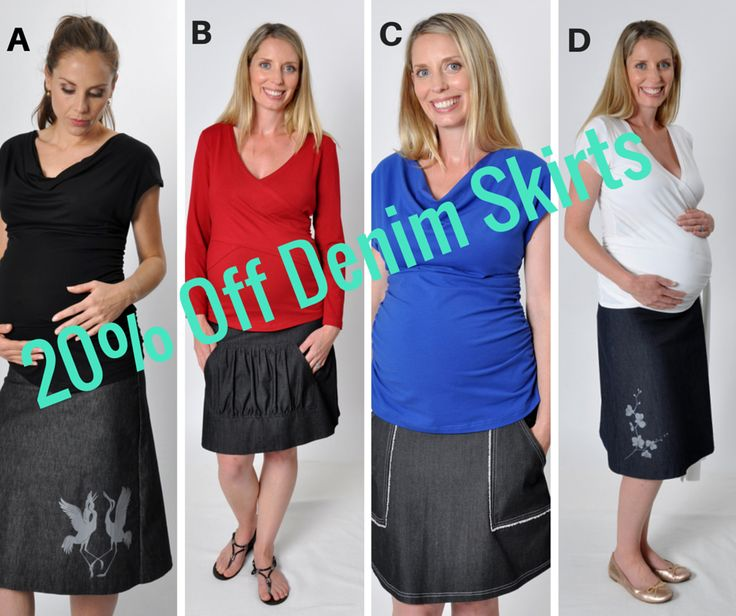 Enter to win: Win the denim maternity skirt of your choice! | http://www.dango.co.nz/s.php?u=QlK7NA2H2829