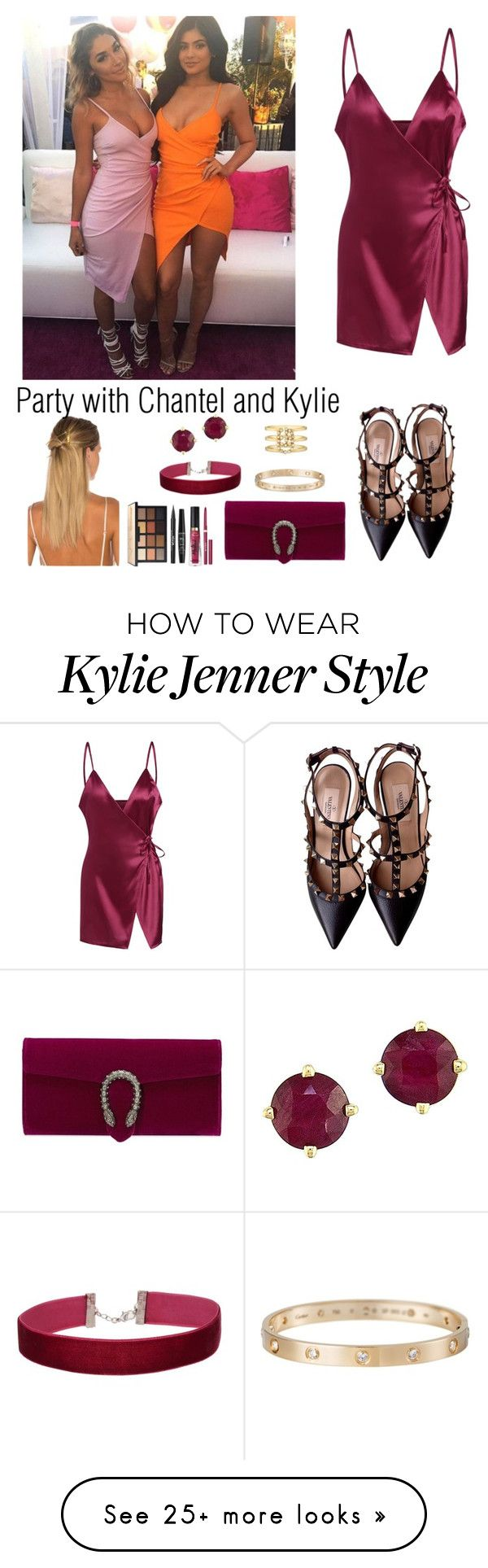 """""""Party with Chantel Jeffries and Kylie Jenner"""" by ap0dita on Polyvore featuring JEFFRIES, Valentino, HAIR DESIGNACCESS, Gucci, Stila, NYX, Too Faced Cosmetics, Effy Jewelry, Miss Selfridge and Cartier"""