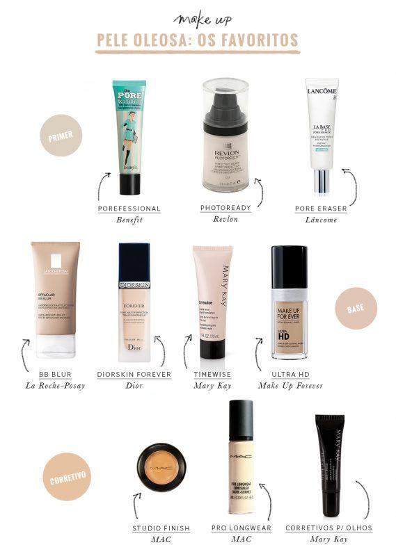 Maquiagem para pele oleosa: os produtos favoritos de vocês