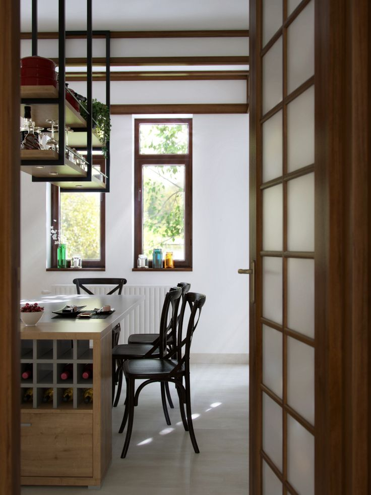 """Picture from """"Nihon no Kanji"""" - project by interiordelight.ro. A Japanese inspired home"""