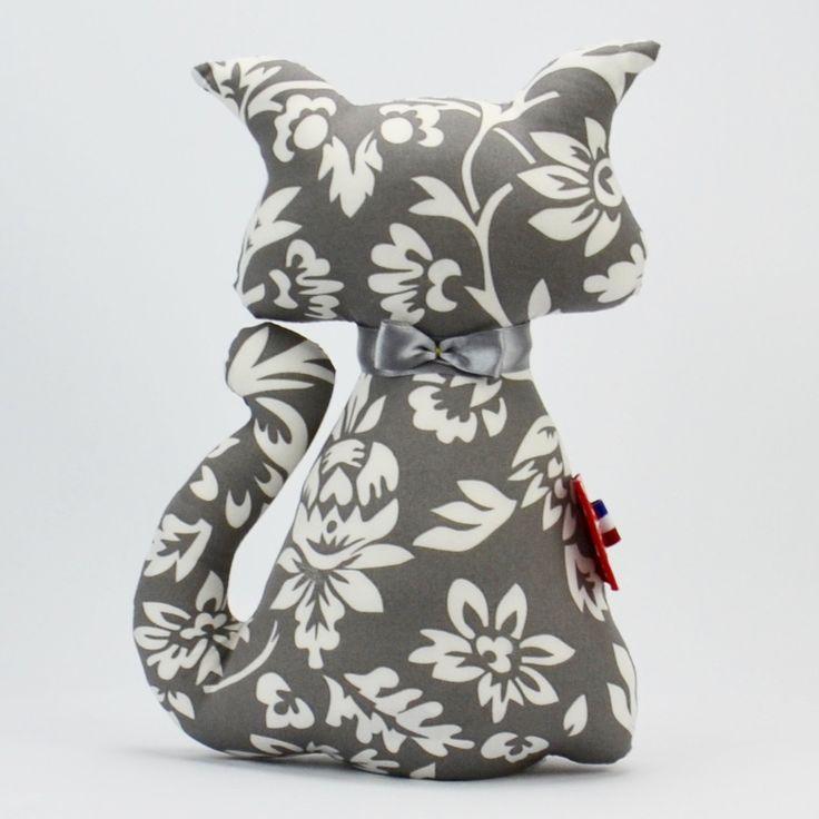 Cale porte chat recto verso louisette gris 25 CM : Accessoires de maison par emmanuel-creation