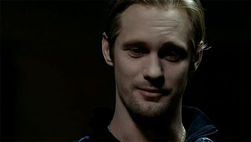 """Basically anytime he shows his fangs. 