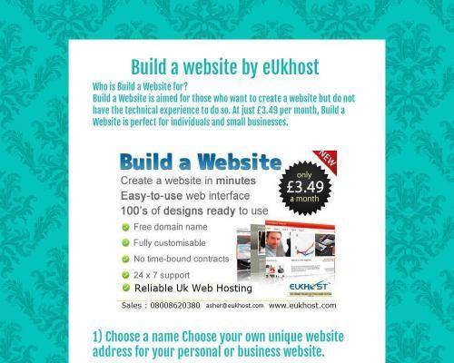 Build a website by eUkhost - Tackk..http://www.eukhost.com/build-a-website/