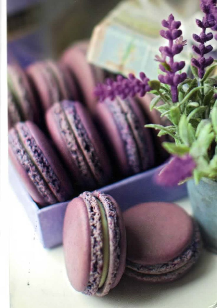 Russia: lavender-colored macarons :9
