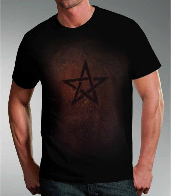 Pentacle tshirt, pagan, star, black, goth, halloween, punk, gifts for him, gifts for goths, emo, UK, christmas gift ideas, pagan clothing by nytmothdesigns. Explore more products on http://nytmothdesigns.etsy.com
