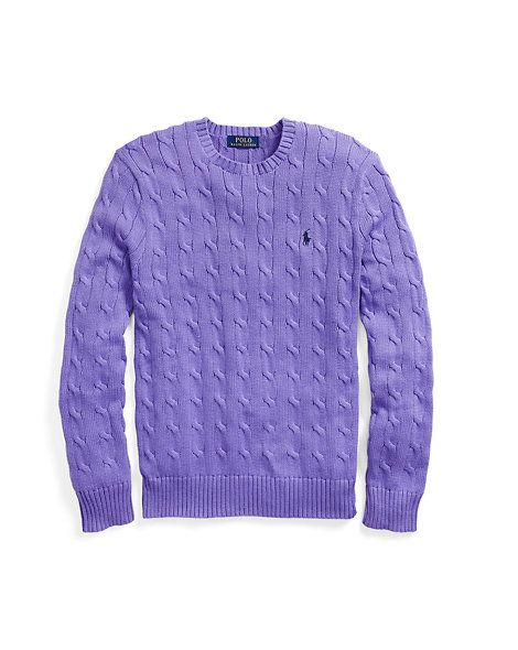 Cable-Knit Cotton Sweater · Crewneck SweatersKnit SweatersCotton SweaterPolo  RalphCable KnitRalph LaurenMen\u0027s FashionSweaters ...