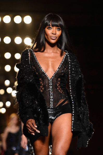 Model Naomi Campbell walks the runway during Versace show as part of Paris Fashion Week Haute-Couture Fall/Winter 2013-2014 at  on June 30, 2013 in Paris, France.