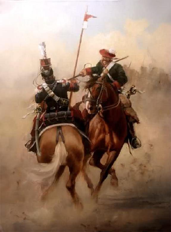 Lancero de Navarra, obra de Augusto Ferrer-Dalmau